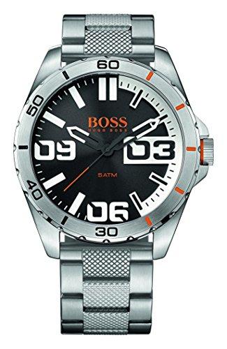 Hugo Boss Men's Steel Bracelet & Case Quartz Black Dial Analog Watch 1513288