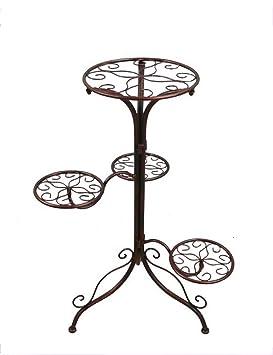 Estante de flores de madera ---- hierro bastidores de flores casa interior balcón sala de estar bastidores ...