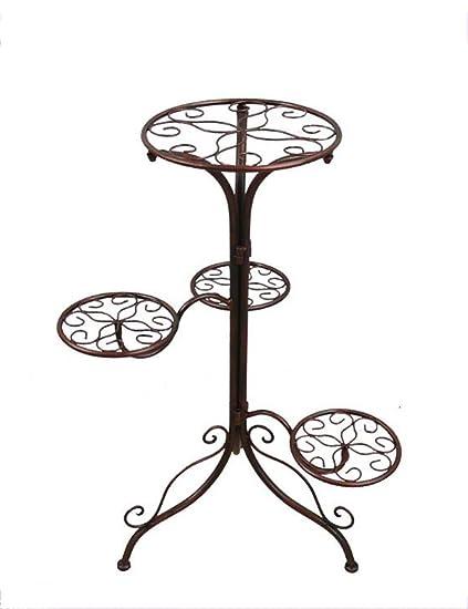 Estante de flores de madera ---- hierro bastidores de flores casa interior balcón