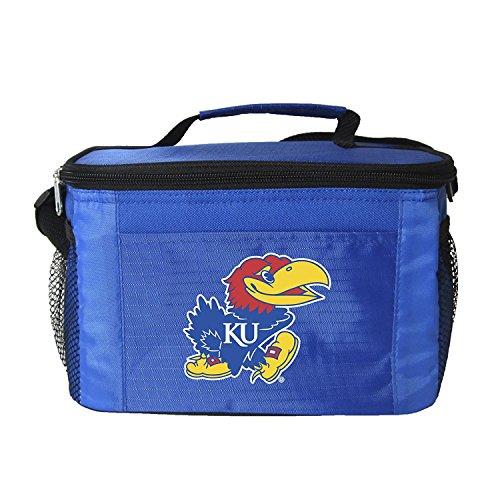 NCAA Kansas Jayhawks Team Logo 6 Can Cooler Bag or Lunch Box - Blue (Team Cooler)