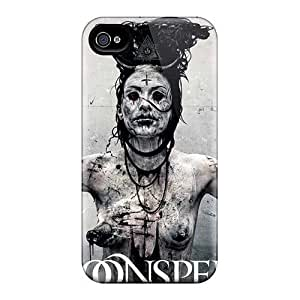AlissaDubois iphone 5 5s Shock-Absorbing Hard Phone Case Provide Private Custom High-definition Moonspell Band Morbid God Pictures [Dfc9133BGlD]
