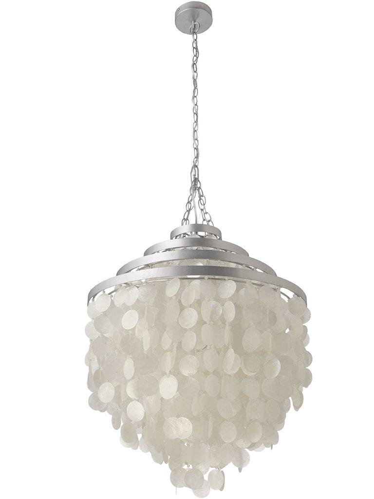 Kouboo round capiz chandelier natural white amazon aloadofball Image collections