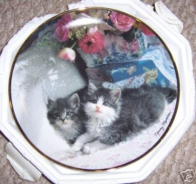 Franklin Mint Ladies of Leisure Cat Plate Heirloom Collection