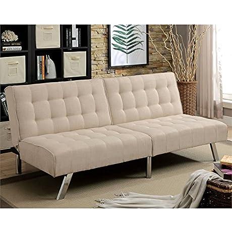 Furniture Of America Ulrike Convertible Sofa In Beige