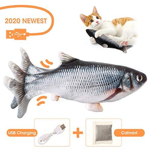 Charminer Elektrisch Spielzeug Fisch, Katze Interaktive Spielzeug USB Elektrische Plüsch Fisch Kicker Katzenspielzeug…