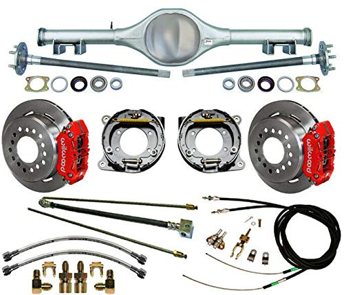 NEW CURRIE X-BODY REAR END,FLANGED AXLES,WILWOOD 11