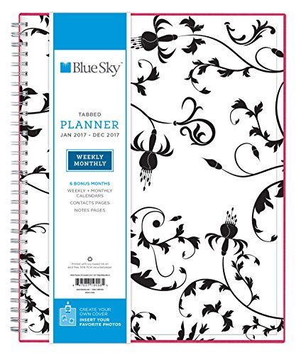 Blue Sky 2017 Weekly & Monthly Planner, Wire-O Binding, 8.5
