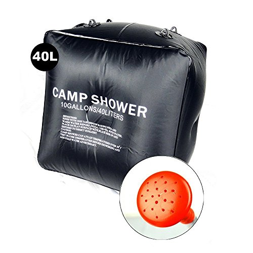 LTDD Portable 40L Solar Heating Shower Bag Hiking Camping Camp Shower Bag Case by LTDD