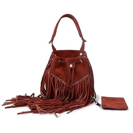 Amazon Com Maerye Leather National Wind Lady Handbag Single