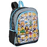 "LEGO ""Mini Figures"" 3D Lenticular 16"" Children's School Backpack"