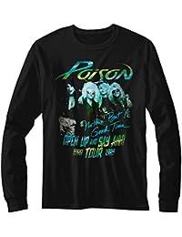 Poison Tour Shirt Black Adult Long Sleeve T-Shirt Tee