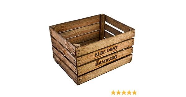 Caja de Madera para Frutas o Vino, Medidas: 30 x 50 x 40 cm, Estilo paisajístico o Colonial: Amazon.es: Hogar