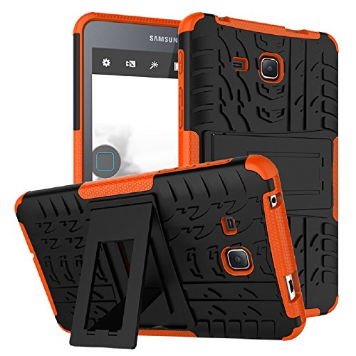 Maomi Samsung Galaxy Tab A 7.0 Case 2016 Release (SM-T280/T285),[Kickstand Feature],Shock-Absorption/High Impact Resistant Heavy Duty Armor Defender Case For Samsung Tab A 7 Inch Tablet (Orange)