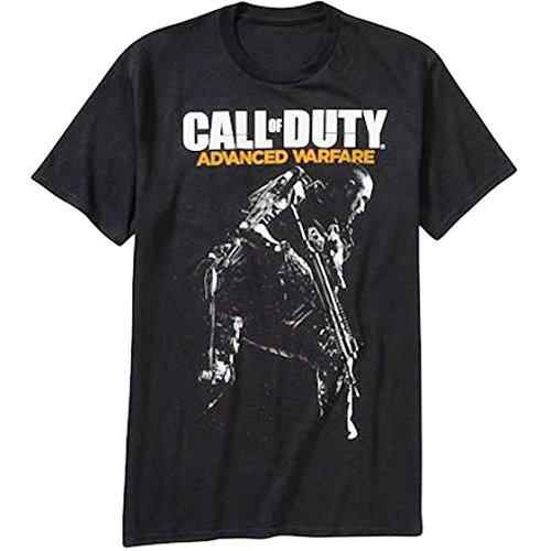 Call of Duty Advanced Warfare Logo & Gunman Men's Black T-Shirt