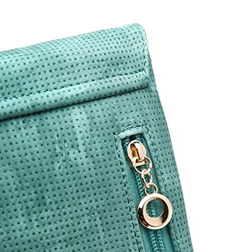 del Verde Multifunzionali del Cuoio Kairuun Portafoglio Crossbody Tracolla Gz Sacchetto a Cellulare Borse Dell'unità del qx0wZ6C