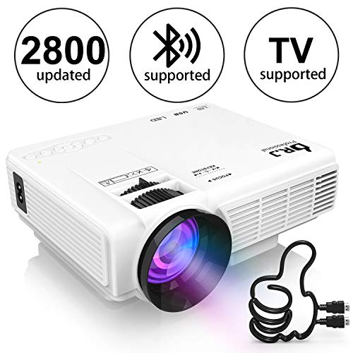 1e811e278 DR. J Professional HI-04 1080P Supported 4Inch Mini Projector with 170