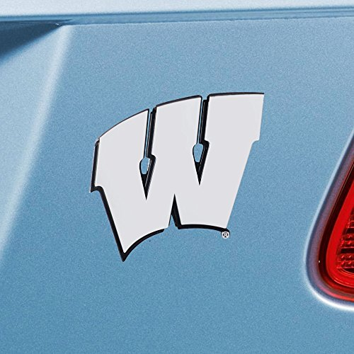 Wisconsin Badgers Ncaa Peel - FANMATS 14935 NCAA University of Wisconsin Badgers Chrome Team Emblem