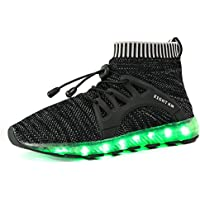 EIGHT KM EKM003 Women & Men LED Shoes Rechargeable Light up Shoes For Big Girls & Big Boys (4 Colors Of Choice)