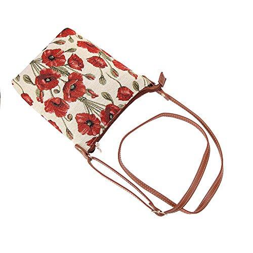 Lightweight Satchel Cross Bag body Tapestry Purse Poppy Signare 71wqaS
