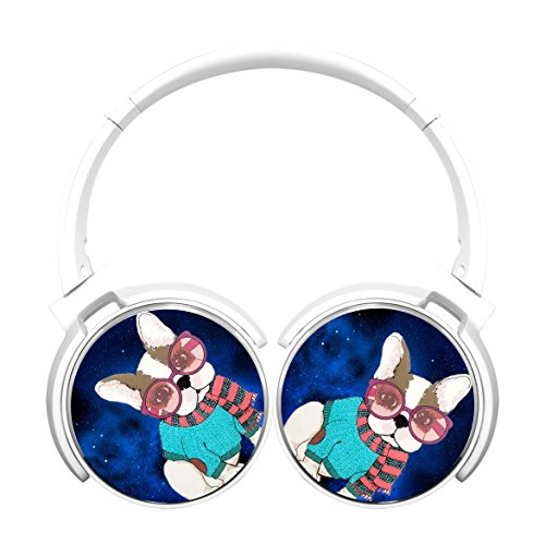 High Sound Quality Bluetooth Over Ear Headphones Gaming Headset Noise Cancelling Earphone Glass Puppy White
