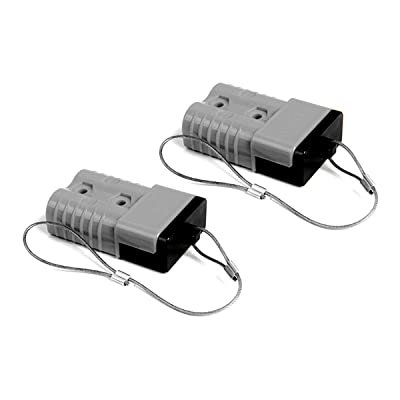 HYCLAT Gray 6-10 Gauge 50 A Battery Quick Connect/Disconnect Wire Harness Plug Connector Recovery Winch Trailer (2 Pack): Automotive