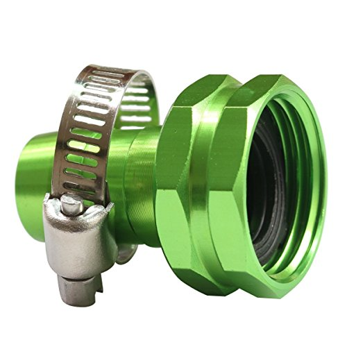 PLG Garden Hose Repair Connector with Clamps,Green