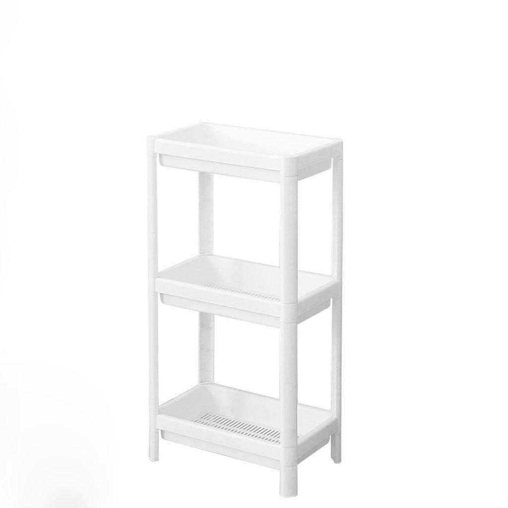 HY Bathroom Shelf Plastic Vanity Storage Rack White Storage Rack (Size : L36CMW23CMH70CM)