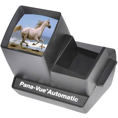 Pana-Vue Automatic Lighted 2x2 Slide Viewer for 35mm with AC Adapter + (3) Microfiber Cleaning Cloths
