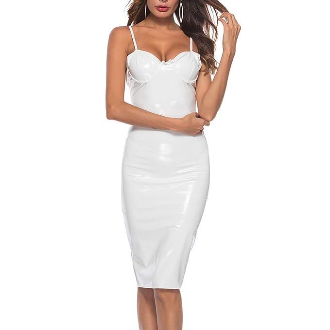 JYC-Ropa interior Mujer Sexy Conjuntos, Lencería de Mujer, Mujer Sexy Artificial Cuero Escote en V Bodysuit Vestir Escotado por detrás Lencería: Amazon.es: ...