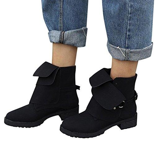 Talla Grande Con Fashion Moda Terciopelo Botines Mujer Chelsea Hebilla Negro Agua Negras Dama Cuero Zapatos Invierno Biker Otoño Botas Para Paolian De Calzado Alta Ayuda OqBwCCng