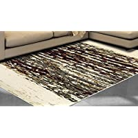 Superior Terrain Collection Area Rug, 8mm Pile Height with Jute Backing, Abstract Distressed Stripe Pattern, Fashionable and Affordable Woven Rugs, 27 x 8 Runner