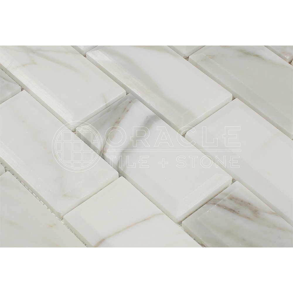 Calacatta gold italian calcutta marble 2 x 4 brick mosaic tile calacatta gold italian calcutta marble 2 x 4 brick mosaic tile honed and deep beveled amazon dailygadgetfo Images