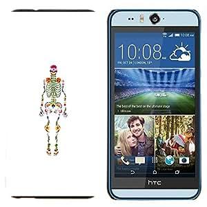 TECHCASE---Cubierta de la caja de protección para la piel dura ** HTC Desire Eye ( M910x ) ** --Esqueleto anatomía Médico
