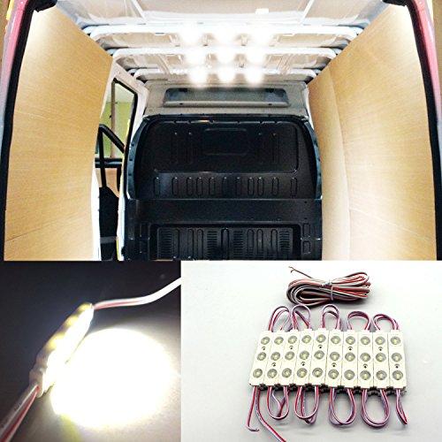 60 Van (Gift Prod 12V 60 LEDs White Interior Ceiling Light Kits Van Interior Light Kits, Ampper LED Ceiling Lights Kit for Trailers Lorries Sprinter Van Boats Truck (Style 3))