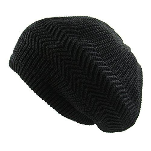 RW Unisex Cotton Classic Rasta Beanie Tam (Black)]()