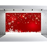 Kate 7x5ft Red Christmas Photography Backdrops Customized Snowflake Photo Studio Background Props New Year