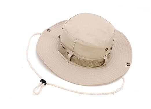 Cupcinu Men and Women Military Boonie Hats Sun Hats Wide Brim Summer Beach  Cotton Cloth Waterproof b9bdb3b4ce34