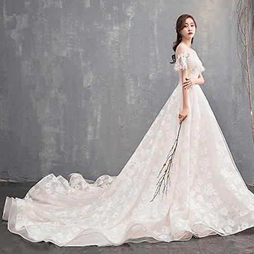 Bianca da in Vestito Abito Semplice Spalla Stile da Sposa Coreano Leggero S HOMEE 2 da Sposa Spalla Alla nHaUBBxq