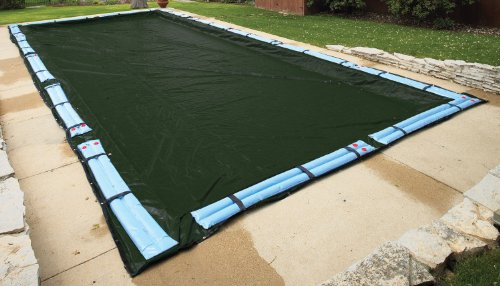 44' Rectangle Green (20' x 44' In-Ground Rectangle Pool Winter Cover - 12 yr)