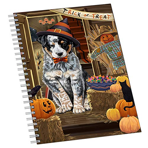 Enter at Own Risk Trick or Treat Halloween Australian Cattle Dog Notebook NTB51796 ()