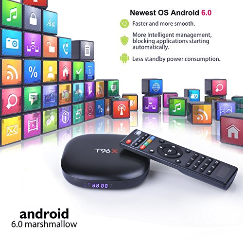 Smart Mini TV Box Android - 6.0 Box with Quad Core s905x Amlogic Flash Supporting 3D 4K Full HD Wifi Media Player Google Internet TV(1g+8g)