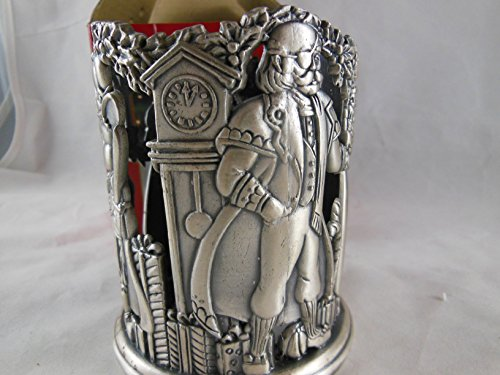 Home for the Holidays Christmas Pewter Votive Tealight Candle Holder Nutcracker # FS284 May Department Stores 1995 by May Dept Stores (Image #1)