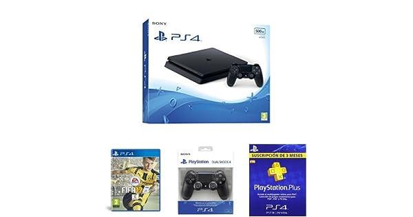 PlayStation 4 Slim (PS4) - Consola de 500 GB + FIFA 17 + DualShock ...