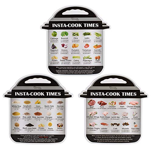 Magnetic Cheat Sheet Compatible with Instant pot Cooking Times Reference Guide Instapot Electric Pressure Accessories Sticker - Fathers Day Pot