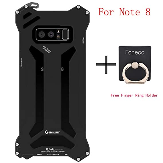 hot sale online 7b8a3 dd4a1 for Samsung Galaxy Note 8 Phone Case, R-JUST Gundam Aluminum Metal  ShockProof Frame Bumper Double Color Oxidation Shell Back Cover for Galaxy  Note8 ...