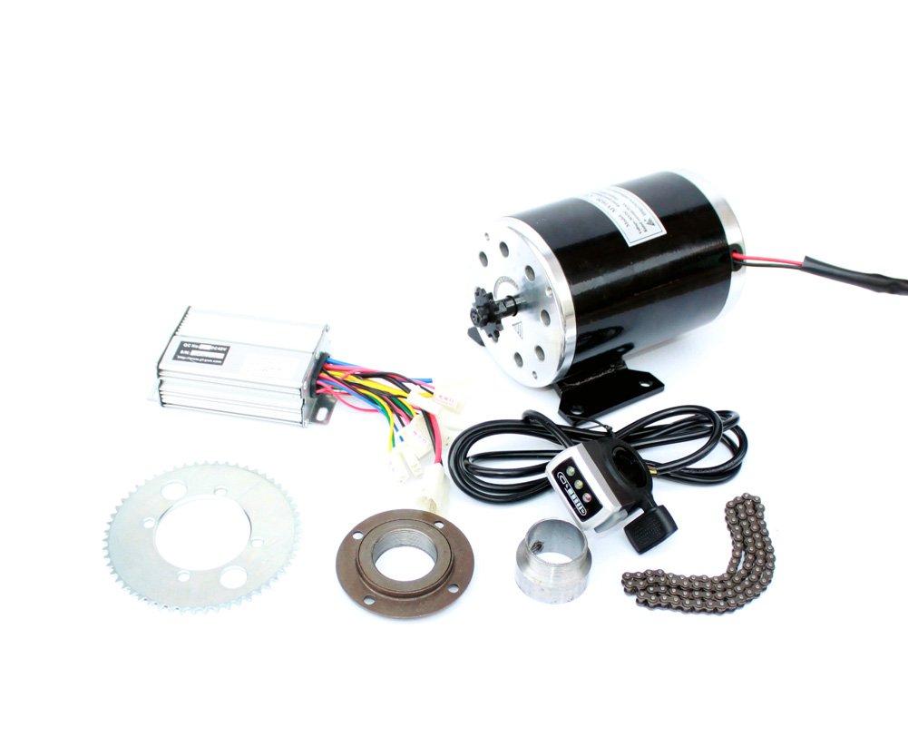 500ワット電動オートバイモーターキット使用25 25hチェーンドライブ高速電動スクーター交換電気ゴーカート変換キット B07C3TFW1S 24V thumb kit 24V thumb kit