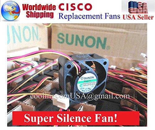 1x Extra-Cooling Quiet Version Sunon 13dBA Noise Fan for Cisco ASA 5505 ASA 5510 ASA 5520 ASA 5540 ASA 5550 Firewalls