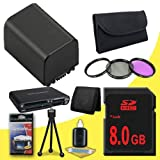 BP-819 Lithium Ion Replacement + 8GB SDHC Class 10 Memory Card + 37mm 3 Piece Filter Kit + Memory Card Reader + Memory Card Wallet + Deluxe Starter Kit for Canon Vixia HFM30 HFM31 HFM300 HF10 HF100 HF11 HF20 HF200 HG20 HG21 Digital Camcorders DavisMAX BP8