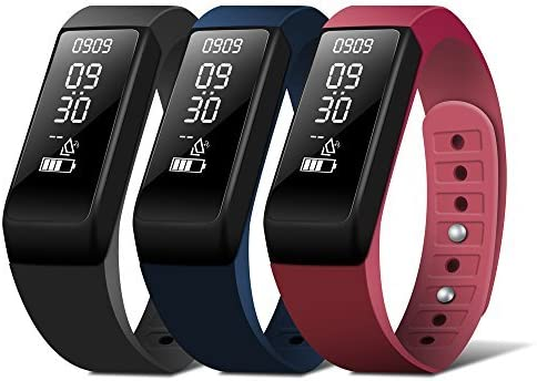 HEIHEI Fitness Tracker, Activity Trackers Watch with Sleep Monitor,Step Counter,Calorie Counter,Call Message Reminder,Waterproof Pedometer Smart Watch Bracelet for Kids Women Men