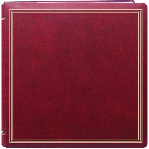 Large Magnetic Page X-Pando Photo Album, Burgandy